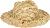 Accessorize Fine Straw Crochet Cowboy Hat