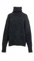 Tibi Tweed Funnel Neck Sweater