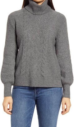Caslon Turtleneck Cable Knit Sweater