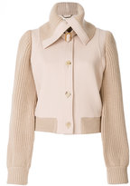 Chloé knitted detail jacket - women - Spandex/Elastane/Viscose/Merino/Virgin Wool - 36
