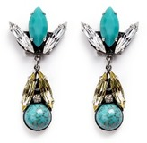 Anton Heunis Swarovski crystal vintage stone cluster drop earrings