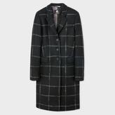Paul Smith Women's Black Windowpane Check Wool-Cashmere Epsom Coat