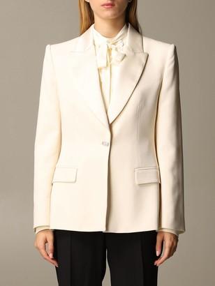 Alberta Ferretti Blazer Tuxedo Jacket In Viscose Blend