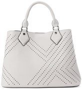 Urban Expressions Grey Bianca Perforated Satchel