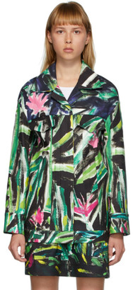 Marni Green and Multicolor Print Jacket