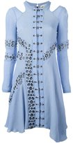 Antonio Berardi eyelet detail dress - women - Silk/Spandex/Elastane/Rayon - 38
