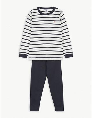 Petit Bateau Boat logo striped cotton pyjama set 2-12 years