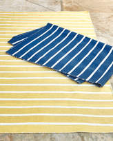 Horchow Pinstripe Indoor/Outdoor Runner, 2' x 8'