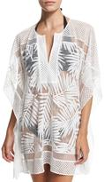 Parker Palm Half-Sleeve Coverup, White