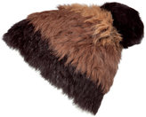 Marc by Marc Jacobs Chocolate and Coffee Fur Beanie