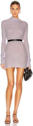Rosetta Getty Long Sleeve Drape Neck Sweater in Lilac | FWRD