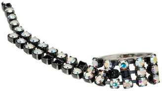 MM6 MAISON MARGIELA Silver Crystal Chain Ring