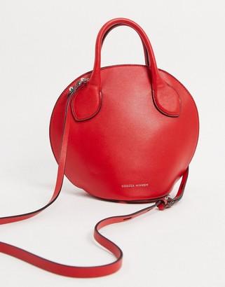 Rebecca Minkoff pippa leather mini dome satchel in red