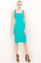 Wool Crepe Sheath Dress