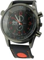 Crosshatch Men's Quartz Watch with Black Dial Analogue Display and Black PU Strap CRS09/C