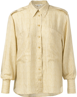 Ya-Ya Silk blend shirt with large pockets and epaulets - viscose | sand | 38 - Sand