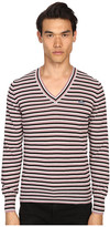 Vivienne Westwood Stripe Classic V-Neck Sweater