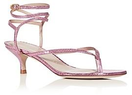 Stuart Weitzman Women's Jimena 50 Kitten-Heel Strappy Sandals