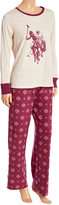 U.S. Polo Assn. Oatmeal & Red Polo Horse Pajama Set