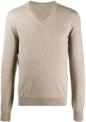 Malo fitted V-neck cashmere jumper