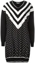 Stella McCartney dual pattern dress - women - Silk/Virgin Wool - 38