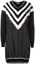 Stella McCartney dual pattern dress - women - Silk/Virgin Wool - 40