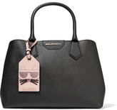 Karl Lagerfeld Lady Shopper Textured-leather Tote - Black