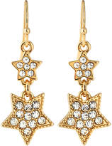Lydell NYC Double-Star Pave Drop Earrings
