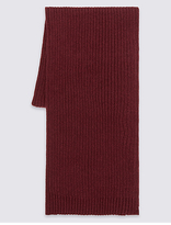 M&s Collection Pure Cotton Scarf With Staynewtm