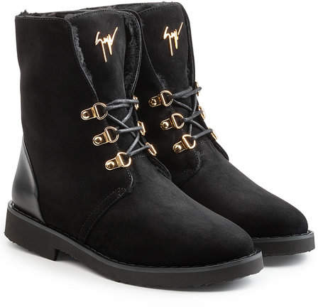 Giuseppe Zanotti Suede and Leather Ankle Boots