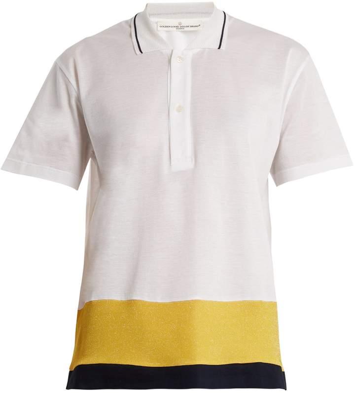 Golden Goose Dalila contrast-panel piqué polo shirt