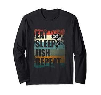 Vintage Angler Fishing Team Gift Long Sleeve T-Shirt