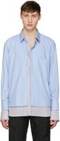 Vetements Blue Comme Des Garçons Edition Double Stitched Shirt