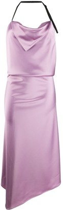 Ssheena Cowl Neck Halter Mini Dress