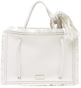 Valentino Garavani - The Rope Large Leather Tote Bag - Womens - White