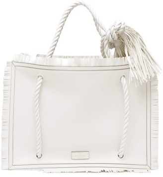 Valentino The Rope Large Leather Tote Bag - White