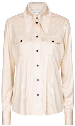 Victoria Beckham Silk jersey shirt