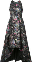 Aidan Mattox floral embroidered midi dress