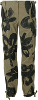 Moschino painted cargo trousers