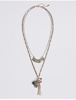 M&S Collection Double Layer Long Necklace