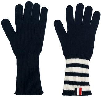 Thom Browne 4-bar Cashmere Gloves
