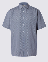 M&s Collection Easy Care Geometric Print Shirt