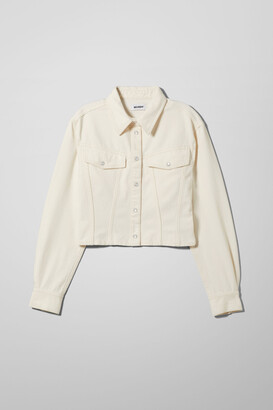 Weekday Gather Denim Shirt - Beige