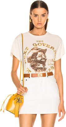 MadeWorn Willie Nelson Next Governor of Texas Tee in Dirty White   FWRD