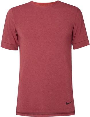 Melange Home Nike Training Transcend Slim-Fit Dri-Fit Yoga T-Shirt