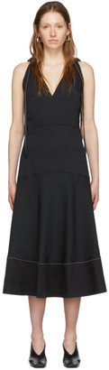 Proenza Schouler Black White Label Sleeveless Deep V Dress
