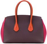 Bally block panel top handle tote - women - Calf Leather - One Size