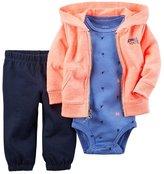 Carter's Baby Boy's 3 Piece Hoodie Pant Set