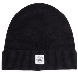 Reigning Champ Logo-patch Ribbed-wool Beanie - Mens - Navy
