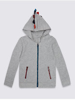 Marks and Spencer Cotton Rich Spike Hooded Sweatshirt (3 Months - 5 Years)